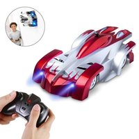 New Remote Control Wall Climbing RC Car with LED Lights 360 Degree Rotating Stunt Toys Antigravity Machine Wall Car for Children Gift
