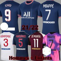Maillots 2021 2022 Fourth MBAPPE ICARDI Long Sleeve soccer j...
