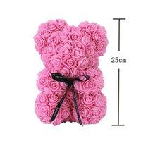 Rose Teddy Bear Fiori di sapone artificiale a madri regalo Girlfriend Anniversary Christmas San Valentino compleanno regalo GWE9440