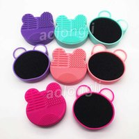 Makeup Brush Cleaner Silicone Washing Brushes Cleaning Sponge and Mat Cosmetic brushes Clean Scrubber Foundation Cleaning Pad Make up Tool