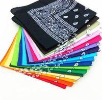 54 * 54 cm de algodón novedad impresión de doble cara paisley bandanas vaquero bandana pañuelos paisley impresión cabeza envolver bufanda FHD11