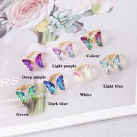 Butterfly Purple Sweet Romantic Ring Female Jewelry Girl Wedding Gift Fashion Popular Temperament Rings