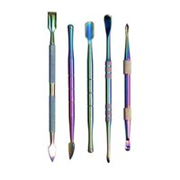 2021 حقيبة rainbow dabber أدوات حفر أداة 106-122mm الفولاذ المقاوم للصدأ لجفف عشب vape أنابيب المياه الزجاج بونغ اختيار زيت الشمع