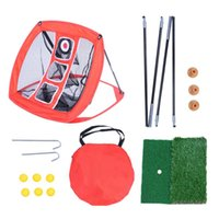 Golf Training Aids Outdoors Practice Net Indoor Cutting Pole Portable Foldable Target Beginner Square Percussion Mat Rational