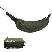 Senderismo Camping 230 * 110 cm Hamaca Underquilt Thermal en Manta Accesorio de aislamiento de nylon para tiendas de campaña y refugios