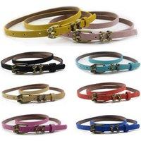 Belts Women Vintage Buckle Slim Belt Faux Leather Dress Jeans Casual Waistband BLTHG0345