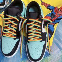 1 Pair Creativo Casual Shoelaces Rainbow Sneaker Sneaker Scarpe Lacci Bootlaces Moda Scarpe Corda Accessori per scarpe colorate Pizzo Unisex