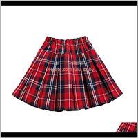 Baby Mini Jupe plissée Jeunes filles Jupes à carreaux École Enfants Vêtements Enfants Uniformes Age 4 6 8 10 12 14 16 ans ZBCJB R0ogH
