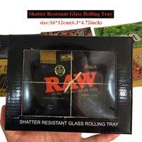 Fumar acessórios bandejas que shatter resistente tabaco de vidro de tabaco de vidro com caixa independente embalagem 20 padrões 4,72 * 6.3 polegadas para moedor de erva de papel rolll