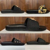 Coloris Paris Designer de luxe Sliders Mens Sandales d'été Femmes Beach Slippers Pantoufles Dames Flip Flip Mocassins Sky Blue Chaussures