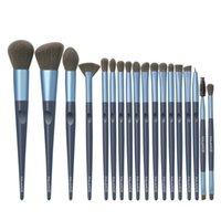 18pcs Professional Makeup Brushes Set Moire Nylon Hair Foundation Contour Concealer Eyeshadow Blush Cosmetic Make Up Brush