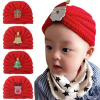 Baby Girls Christmas Hats Solid Knitting Caddice Caps Kids Casual Hat Autumn Winter Hats Boys Keep Warm Caps 07