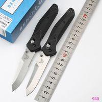 Benchmade BM940 / 940BK Couteau pliant Poignée en fibre de carbone 60 HRC D2 Blade en acier Camping Couteaux de chasse Couteaux de poche EDC en plein air de BM42 C81 A62