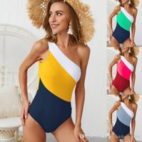 Sexy One Piece Swimsuit Women 2019 Bandage Padded Summer Beachwear One Shoulder Swimwear Bathing Suits Bodysuit Monokini Swimsuit Biquini .