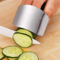 Roestvrijstalen vingerbeschermer Snijden Groente Vinger Hand Protector Guard Keuken Gereedschap LLF8825