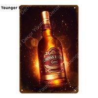 Classic Beer Chivas Regal Metal Tin Signes Vintage Boissons Whisky Poster Décoratif Vocateur mural Pub Bar Club Décoration de la maison Yi-190