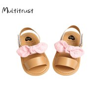 Athletic & Outdoor 2021 Summer Children Baby Kids Boys Girls Shoes Non-Slip Canvas Bowknot Toddlers Born Infantil Sandals