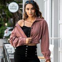 Women's Jackets Foridol Casual Crop Jacket Coat Women Autumn 2021 Vintage Streetear Fit Punk Short Outfit Tops Female