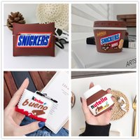3D Cute Funny Chocolate Series Snacks For AirPods 1 2 Pro Earbuds Protection Cover for Apple Bluetooth Earphones Full Body Silicone Cases