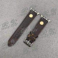 Mode-Designer-Strap 42mm 38mm 40mm 44mm iwatch 2 3 4 5 Uhrenband-Leder-Armband-Streifen-Uhr-Armband-Armband-Band 38/40
