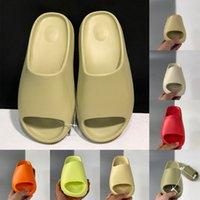 Con Box MX Slides Zapatillas Hombre Mujer Desert Sand Negro Bone White Core Brown Enfora Blue Orange Resin Sandals Pure Soot Mocasines Zapatos 36-47 Espuma de goma