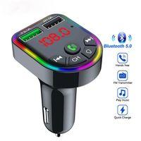 FM Sender Bluetooth 5.0 Car Kit Freisprecheinrichtung MP3 MP3-Musik-Player Dual-USB-Autofahrzeug-Schnellladegerät 3.1A Support TF-Karte U-Festplatten-Wiedergabe