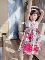 الأطفال فستان الزهور الاطفال فتاة الصيف الحلو الطفل الفتيات القطن عيد فساتين حزب الأزياء أبلى الملابس