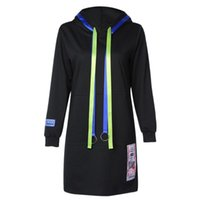 Women's Hoodies & Sweatshirts CharMma 2021 Autumn Long Sleeve Colorful Drawstring Loose Pocket Women Hoodie Plus SIze Winter Hooded Pullover