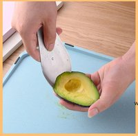 Avocado Slicer Stainless Steel 3 in 1 Avocado Slicer Tool for Dig Vegetable Fruit Avocado Toast and Guacamole DHF6205