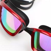 Nuevas gafas de natación de gafas de natación de gafas de gafas de gafas de cristal para hombres con estuche Sqcbue Home2006