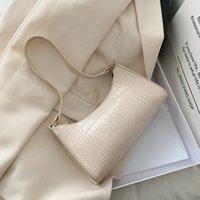 2021 NEW 2020 New Fashion Alligator Leather Baguette Bag Lady Shoulder Messenger Bags Women Leather Handbags Luxury Brand Crossb