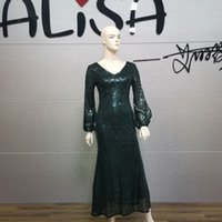 ALISA 2021 new pattern designer spring and autumn Evening dresses Wedding dress Dignified atmosphere Chinese Western style 009