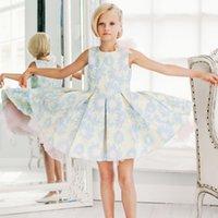 Childdkivy Весна осень осень девочек платье мяч платье 3-10 лет девушки платье принцессы на день рождения дети свадебные платья для девочек T200709
