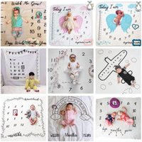 Baby Photo Blankets Toddle Milestone Blankets Photography Backdrops Prop Letter Flower Print Blanket Newborn Wrap Swaddling 30 Styles C6834