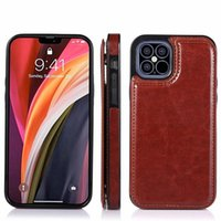 Casos de telefone de couro PU para iPhone 12 11 pro máximo xr x xs 8 7 6 mais carteira kickstand com slots de cartão Samsung S8 S9 S10 S20 Case