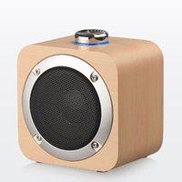 Bluetooth sans fil en bois Bluetooth Portable Subwoofer Stéréo Bass Système Bluetooths Haut-parleur TF USB MP3 Player ordinateur