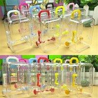 Hochzeitsfest Dekoration Aufbewahrungsbox Kunststoff Mini Reise Koffer Form Candy Favor Zinn Sonnenstrom Organizer Container Geschenk Wrap