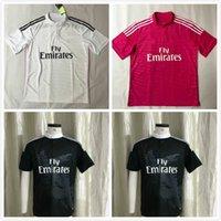 2014 2015 Real Madrid Retro Jersey di calcio 14 15 Vintage Home White Away Red Third Black Football Camicia Cinese Dragon Ronaldo Benzema Bale