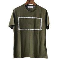 T-shirt da uomo in cotone di alta qualità Estate T-shirt da uomo stampata Correzione Crew Collo Manica Corta Tees Lovers Casual Bottome Tops