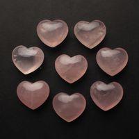 Natural Rosa Cristal Amor Coração-Em forma de Pequeno Jogo Original de Pedra Desktop Ornaments Presentes Jóias Amantes