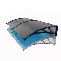 Balcon extérieure Soutien auvent Support Backet Fenêtre Titulaire Titulaire En acier en plastique - Ombre de la largeur de 3 mm