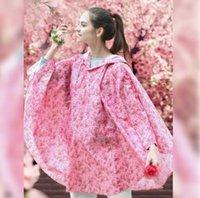 Abrigo mujer moda floral damas motocycle lluvia poliéster lluvia chaqueta impermeable imprimido
