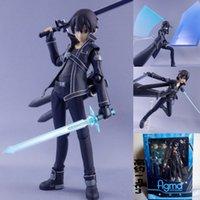 Figuras de brinquedo de ação PVC modelo espada de arte on-line Kirito Kazuto figura SAO coleção brinquedos figma 174
