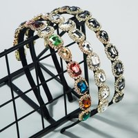 2021 Vintage Colorful Rhinestone Jewely Hairband Women Headband Hair Bands Clips Hoop For Accessories Girls Hairband