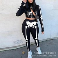 Women's Two Piece Pants WEPBEL Fashion Women Long Sleeve Crop Top And Set Casual Fitness Sportswear Solid Color Tracksuit Sexy Outfits Sport