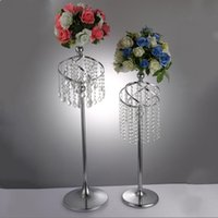 Party Decoration Acrylic Flower Vase   Mental Candle Holder Centerpieces For Wedding