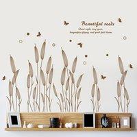 Modern Abstract Reed Adesivi Wall Stickers Fiori Soggiorno Divano Decorazioni per la casa Corridoio Portico Portico Portico Linea di battiscopa Carta da parati impermeabile