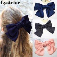 Lystrfac Moda Hairgrips Big Large Bow Horquilla para las mujeres Chicas Satin Trendy Ladies Clip Cute Barrette Accesorios para el cabello