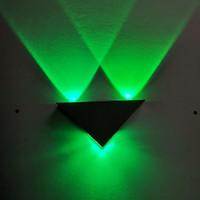 Wandleuchte sconce light 3w Aluminium Dreieck für Schlafzimmer Home Beleuchtung Leuchte Badezimmer LED
