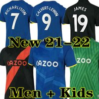 Novo 20 21 Everton James Soccer Jerseys Calvert Lewin Kean 2020 2021 Sigurdsson Richarlison Camisas de futebol Tosun Bernard Men + Kit Kit Jersey